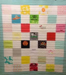 Modern clothes, modern colors, even modern straight line quilting!