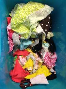 The detritus of baby clothes